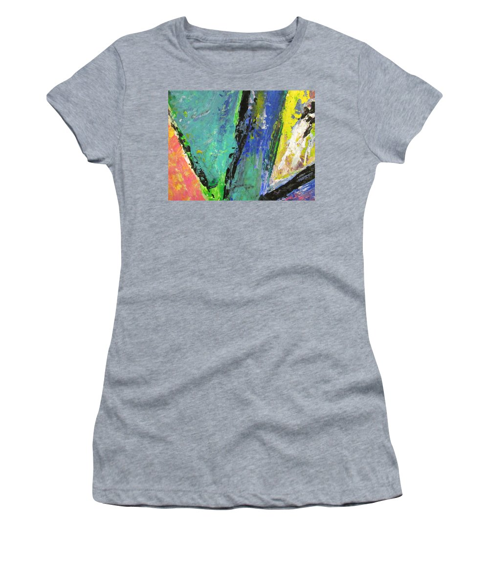 Abstract Women's T-Shirt (Athletic Fit) featuring the painting Abstract Piano 5 by Anita Burgermeister