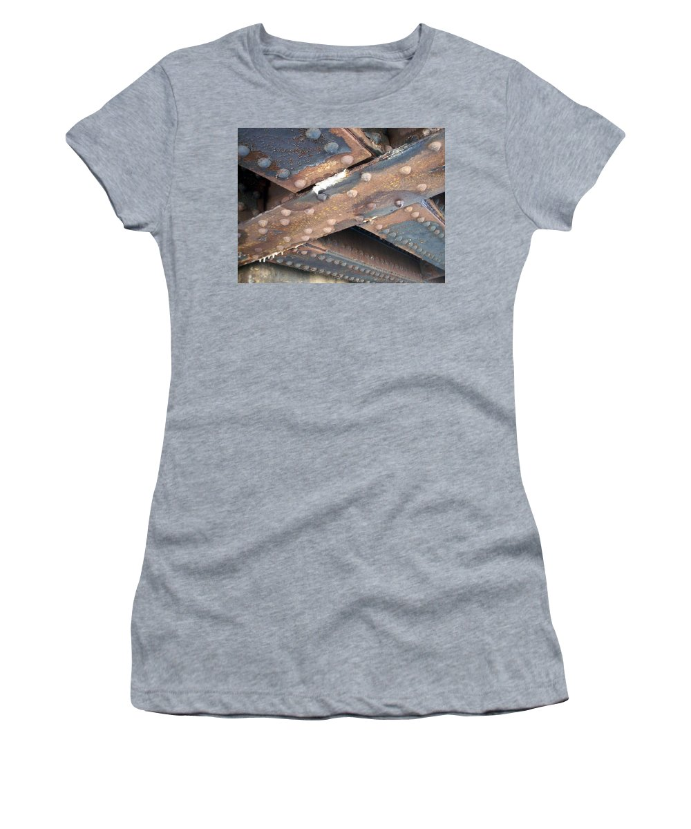 Urban Women's T-Shirt (Athletic Fit) featuring the photograph Abstract Rust 2 by Anita Burgermeister