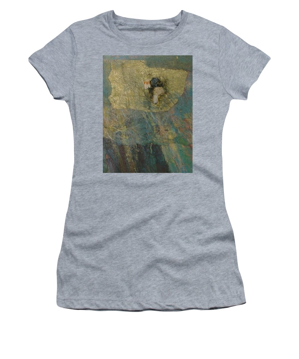 Abstract Women's T-Shirt (Athletic Fit) featuring the mixed media Abstract Two by Pat Snook