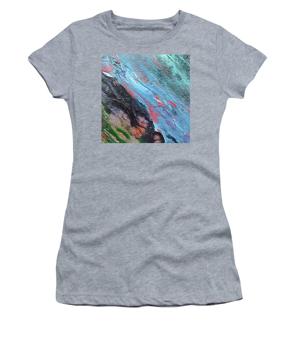Abyss Women's T-Shirt (Athletic Fit) featuring the painting Abyss by Dragica Micki Fortuna