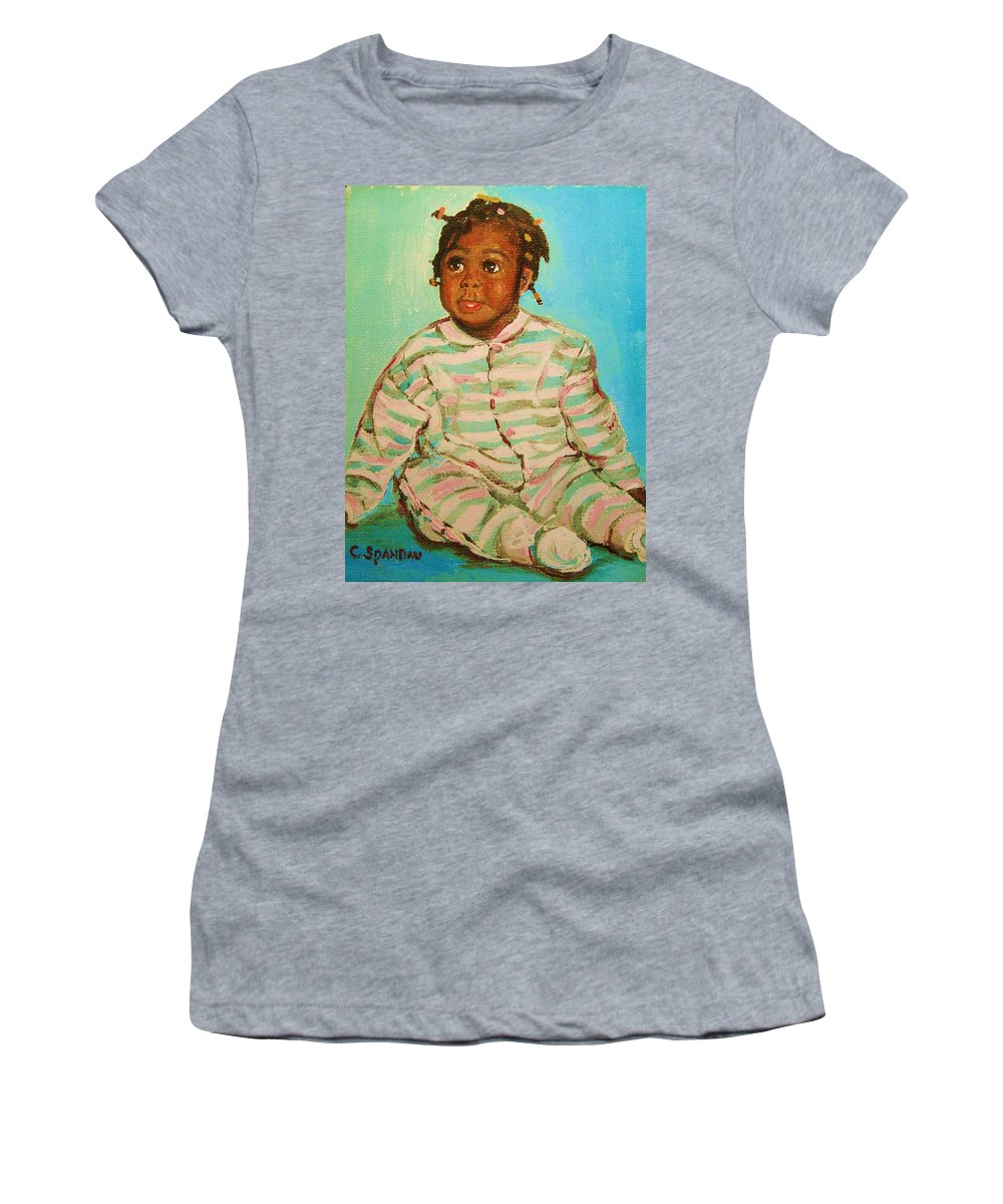 Africa Women's T-Shirt (Athletic Fit) featuring the painting African Cutie by Carole Spandau