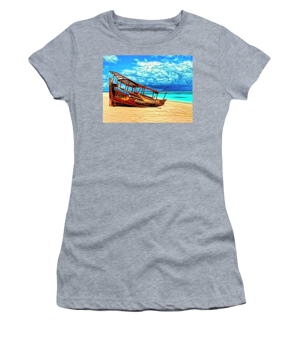 African Queen Women's T-Shirt (Athletic Fit) featuring the painting African Queen by Dominic Piperata