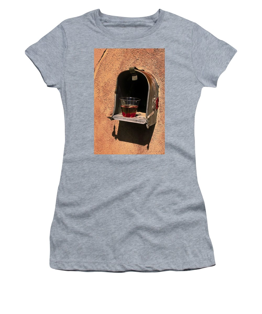 Manhattan Drink Women's T-Shirt (Athletic Fit) featuring the photograph After The Party by Sally Weigand