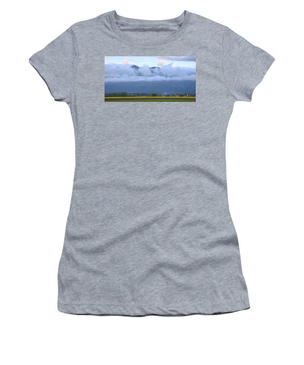 Brnik Women's T-Shirt (Athletic Fit) featuring the photograph After The Storm by Ian Middleton
