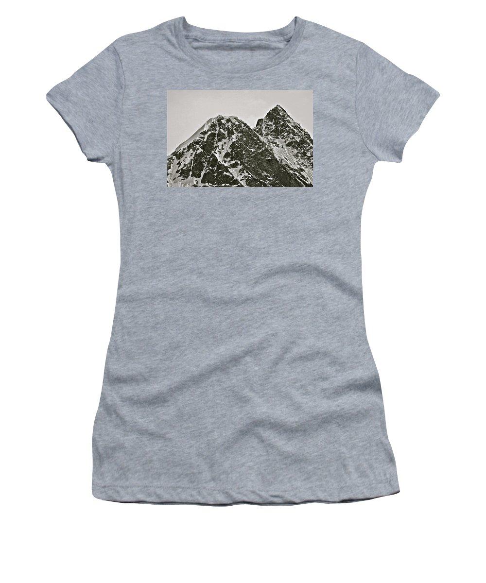 Alaska Women's T-Shirt (Athletic Fit) featuring the photograph Alaskan Peaks by Diana Hatcher