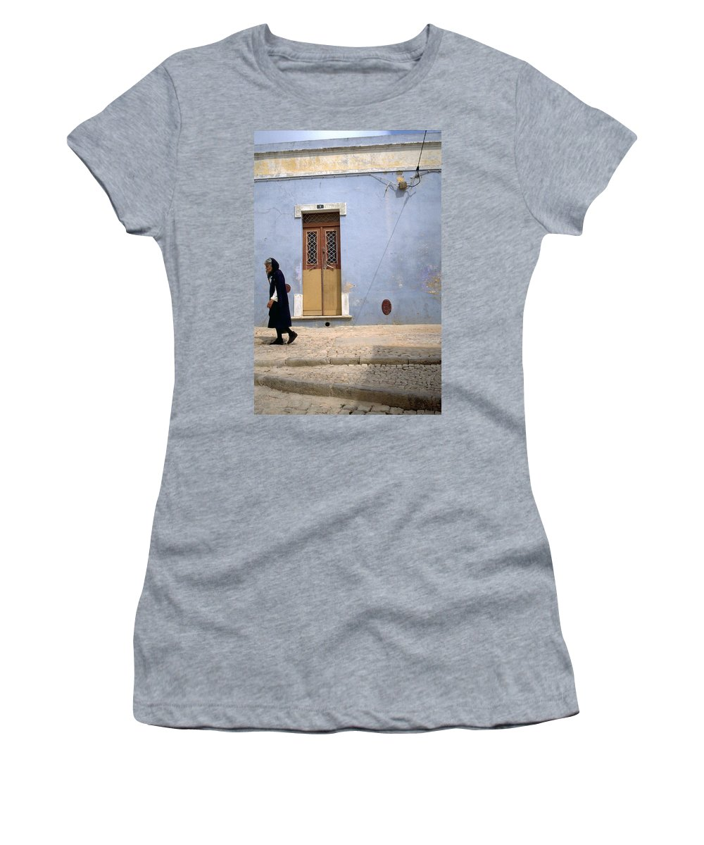 Algarve Women's T-Shirt (Athletic Fit) featuring the photograph Algarve II by Flavia Westerwelle