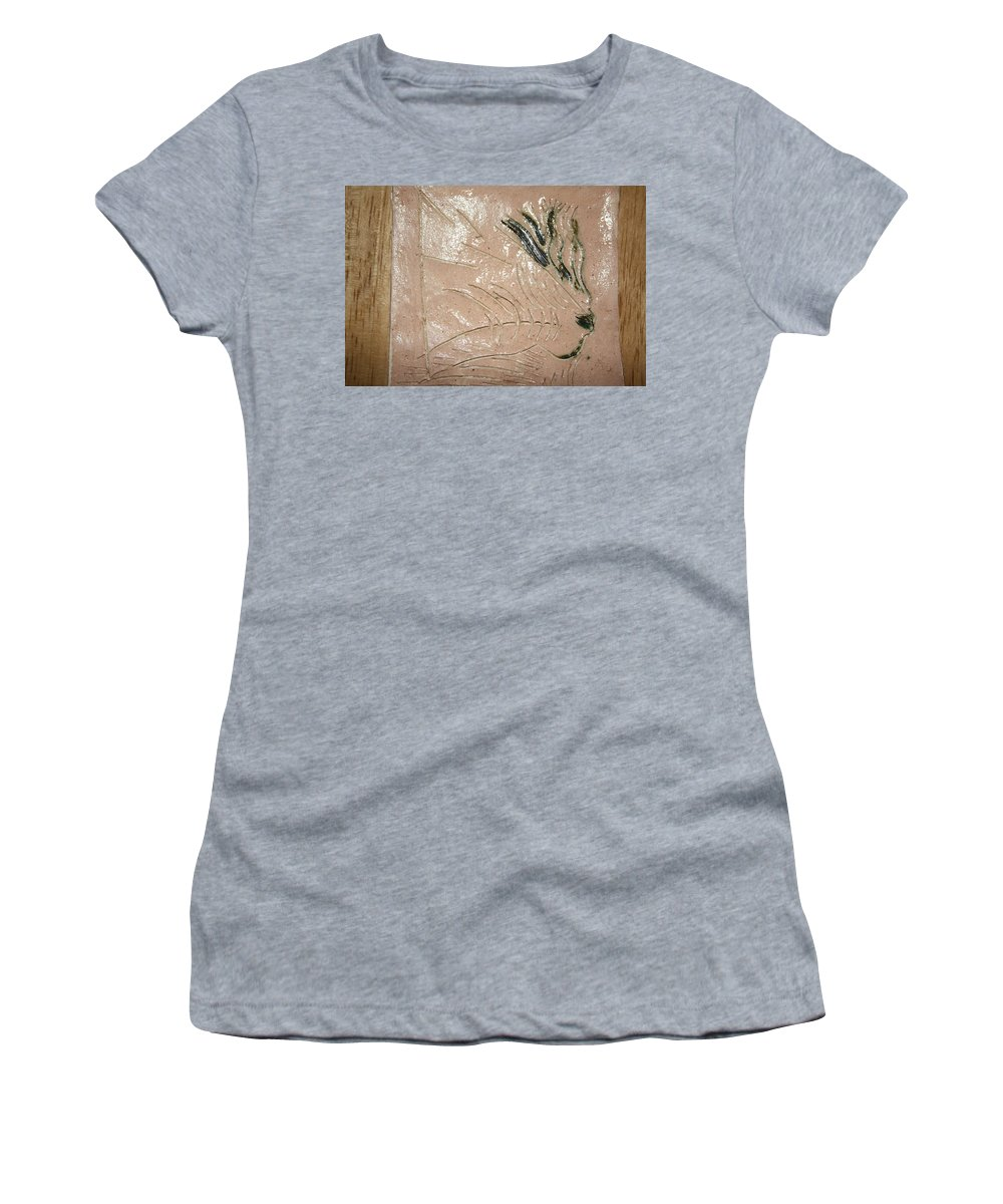 Jesus Women's T-Shirt (Athletic Fit) featuring the ceramic art Alight - Tile by Gloria Ssali