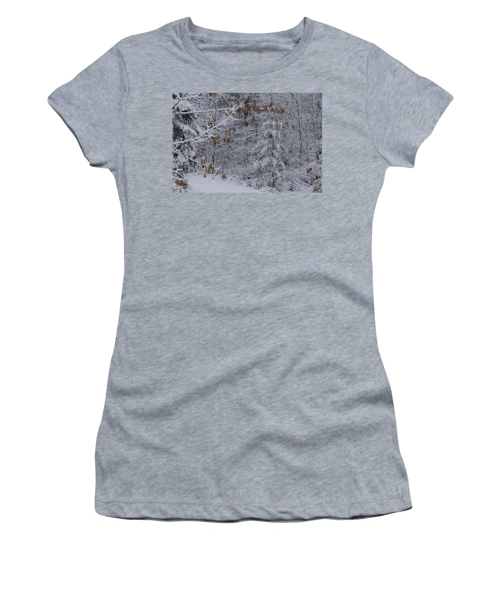 Marquette Women's T-Shirt (Athletic Fit) featuring the digital art Alone by Bradley J Nelson