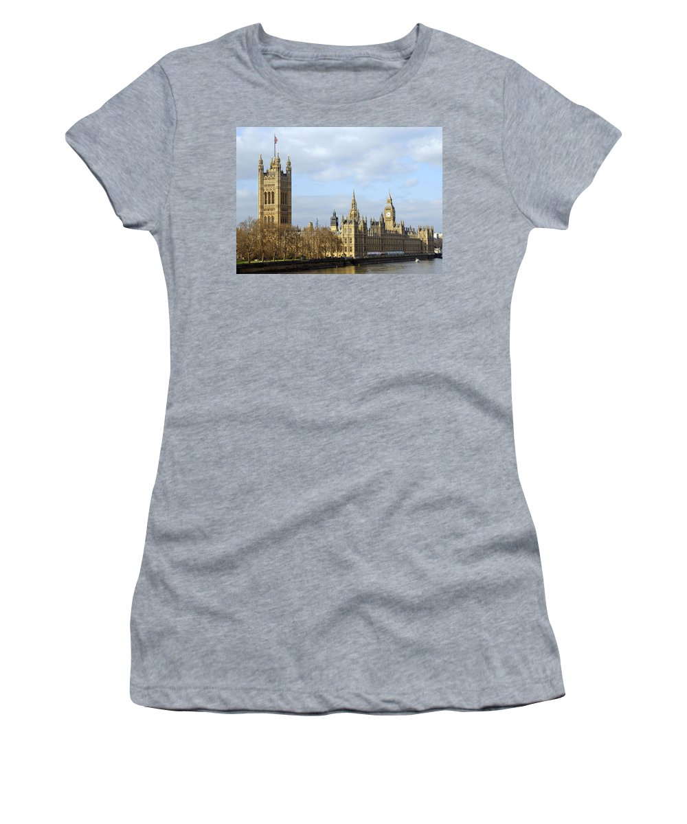 London Women's T-Shirt (Athletic Fit) featuring the photograph Along The Thames by Stephen Anderson