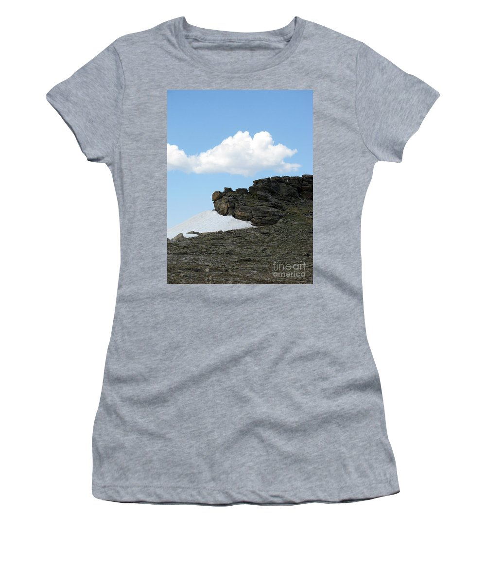 Rocky Mountains Women's T-Shirt featuring the photograph Alpine Tundra - Up In The Clouds by Amanda Barcon
