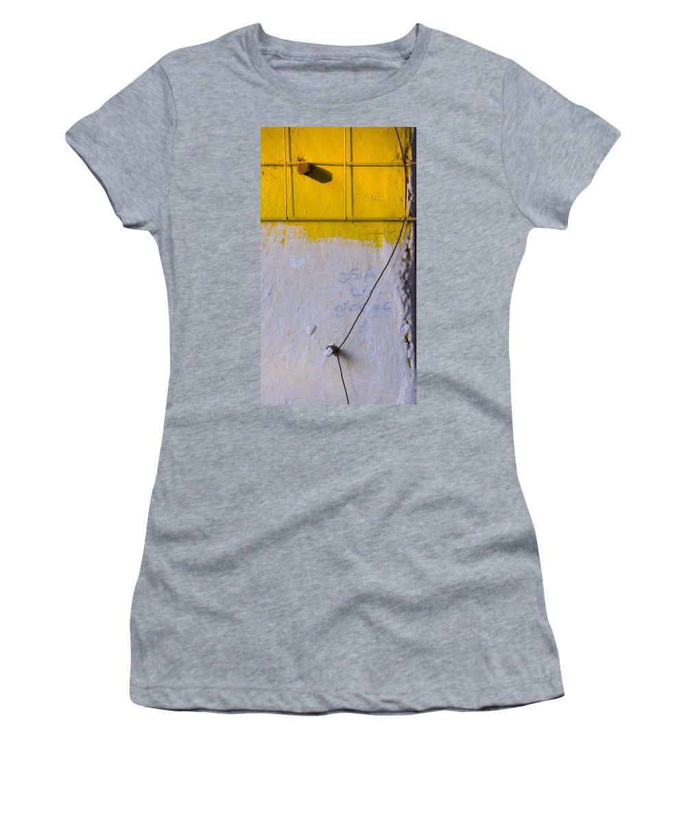 Abstract Women's T-Shirt (Athletic Fit) featuring the photograph Amarillo by Skip Hunt