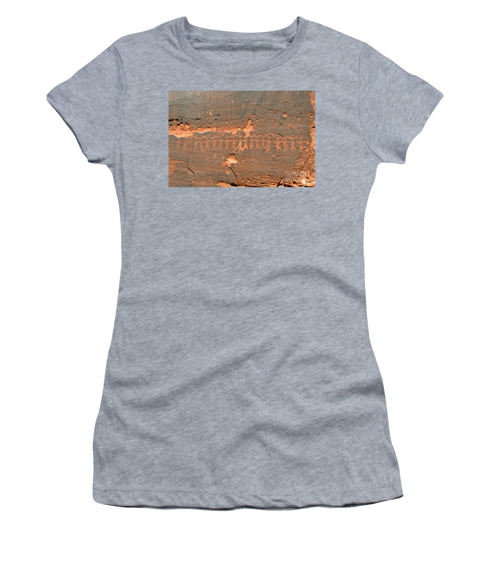 Anasazi Women's T-Shirt (Athletic Fit) featuring the photograph Anasazi Dancers by David Lee Thompson