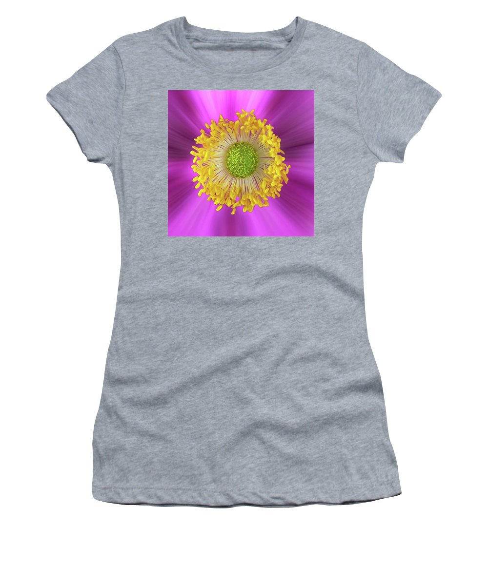 Beautiful Women's T-Shirt featuring the photograph Anemone Hupehensis 'hadspen by John Edwards