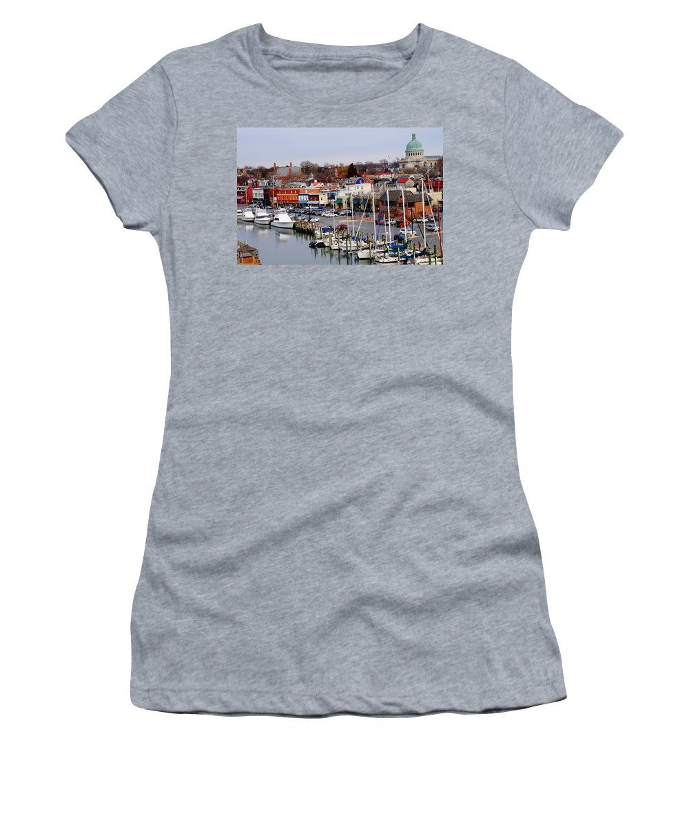 Annapolis Women's T-Shirt featuring the photograph Annapolis by Beth Deitrick