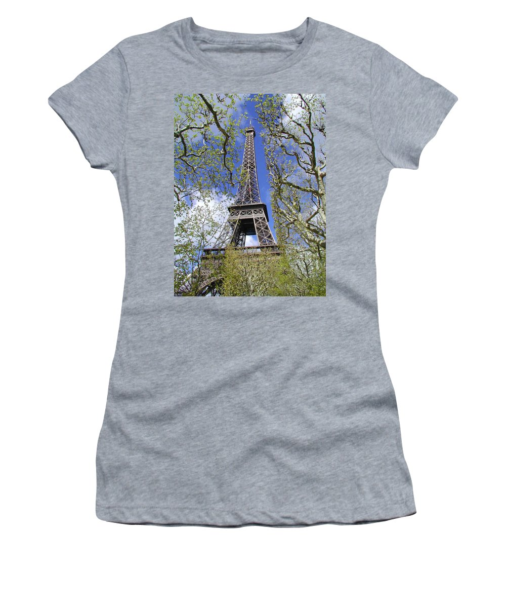 Paris Women's T-Shirt (Athletic Fit) featuring the photograph April In Paris by Tom Reynen