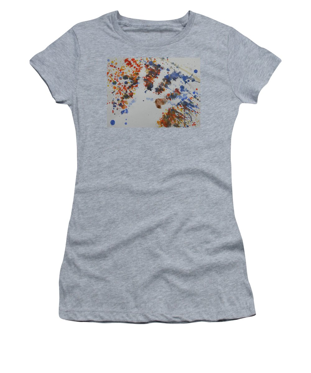 Marwan Khoury Women's T-Shirt (Athletic Fit) featuring the painting Arab Spring Two by Marwan George Khoury