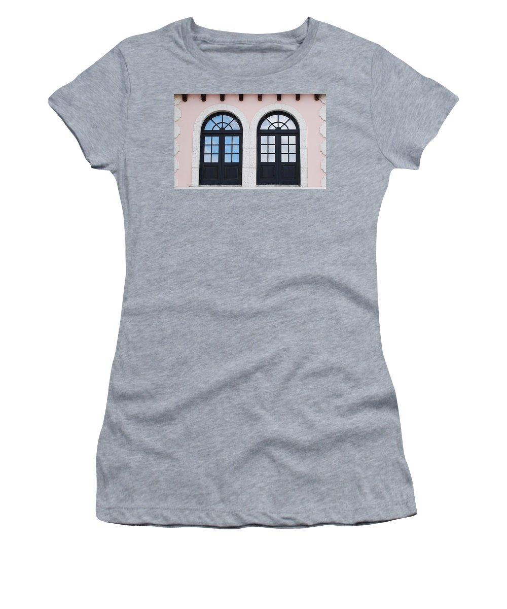 Windows Women's T-Shirt (Athletic Fit) featuring the photograph Arch Windows by Rob Hans