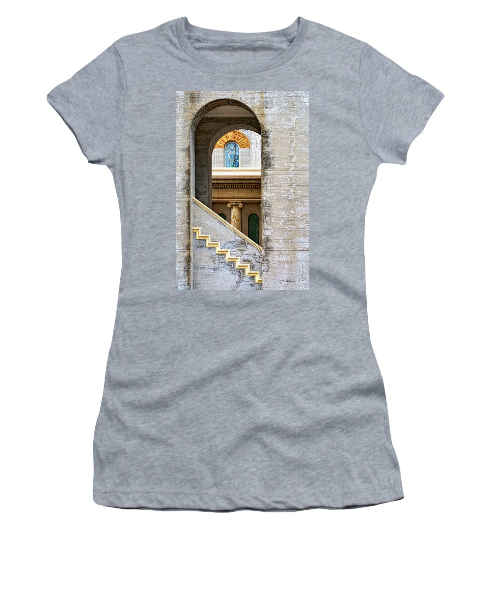 Arch Women's T-Shirt (Athletic Fit) featuring the photograph Arches Within Arches by Christopher Holmes