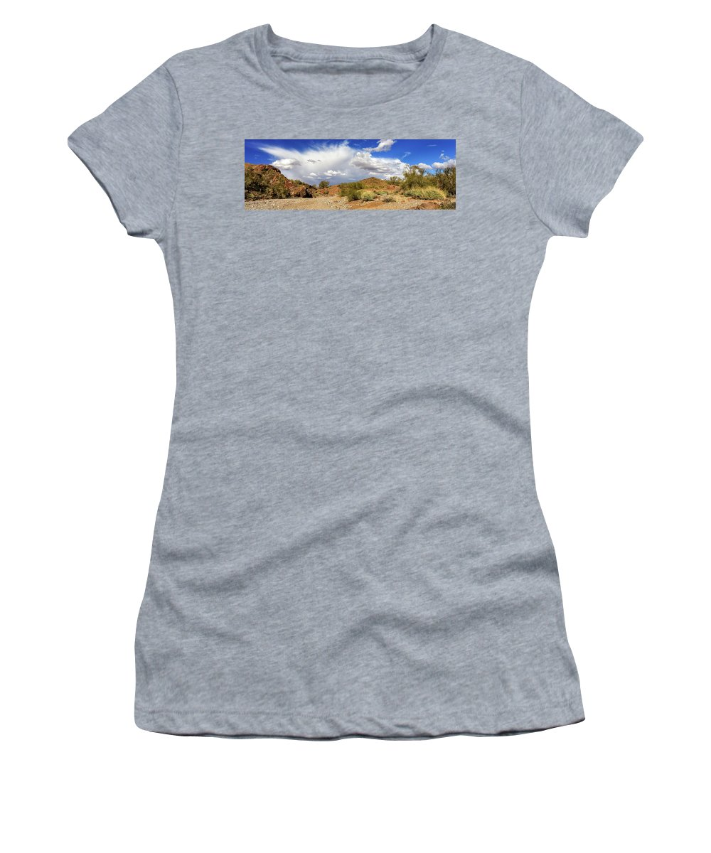 Landscape Women's T-Shirt (Athletic Fit) featuring the photograph Arizona Clouds by James Eddy