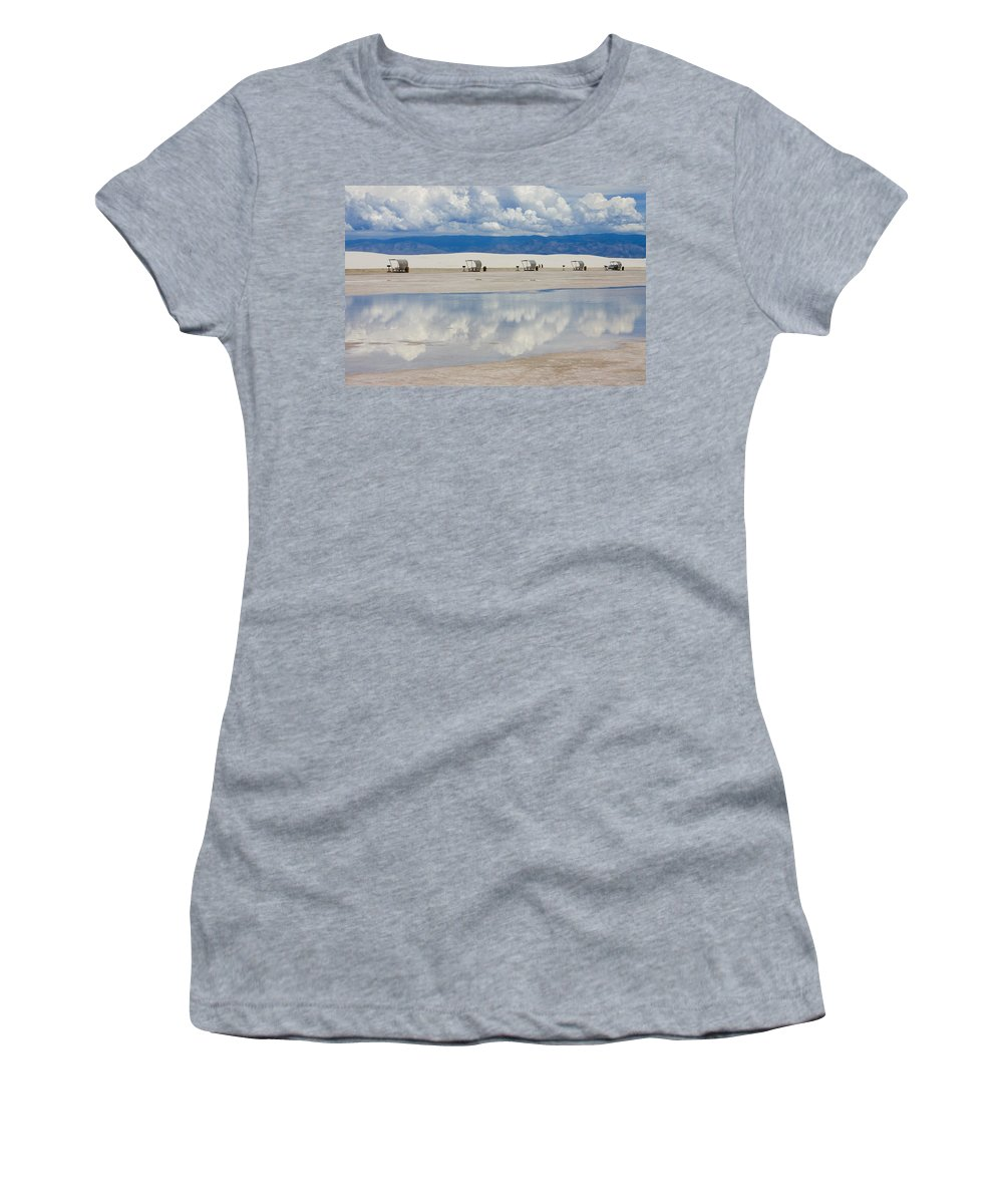 New Mexico Women's T-Shirt (Athletic Fit) featuring the photograph Armageddon Picnic by Skip Hunt