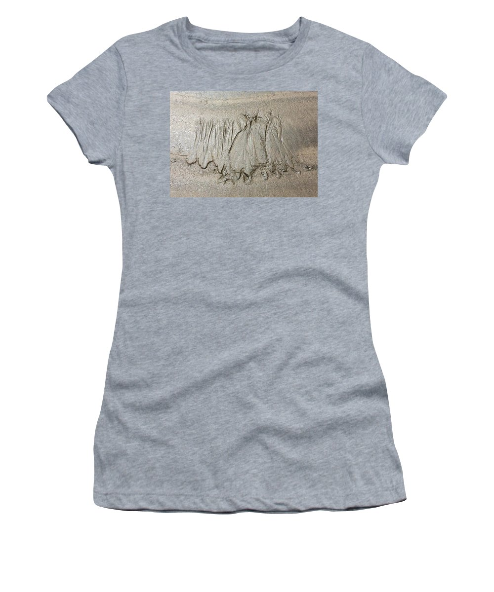 Sand Women's T-Shirt featuring the photograph Art Created By Nature On Sand by Natalia Wallwork