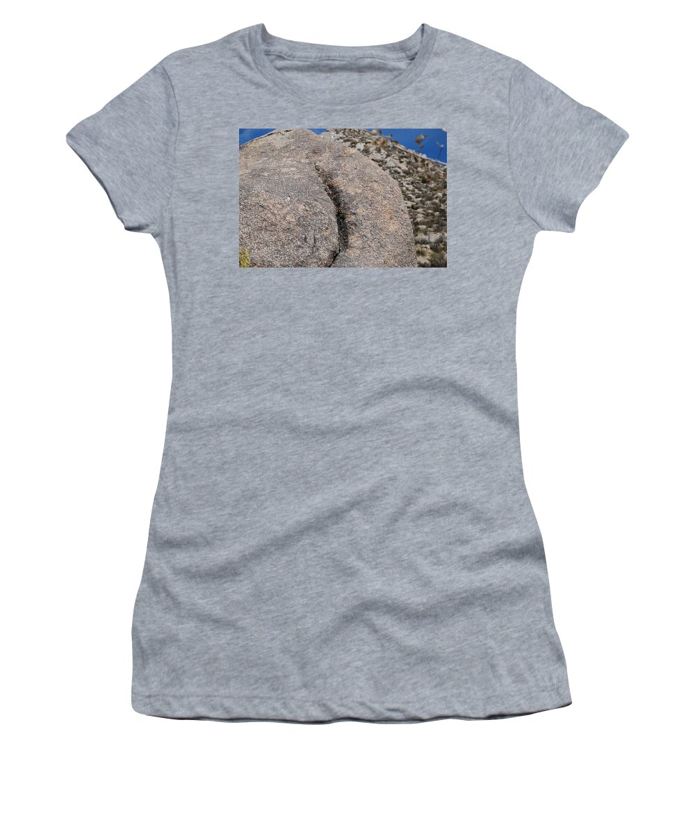 Pop Art Women's T-Shirt (Athletic Fit) featuring the photograph Ass Rock New Mexico by Rob Hans