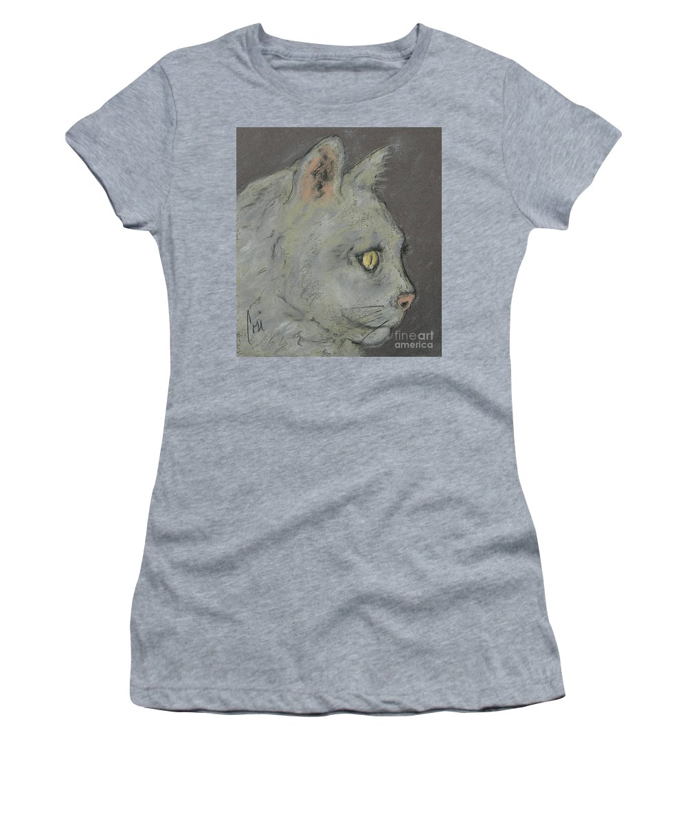 Pastels Women's T-Shirt (Athletic Fit) featuring the drawing At Peace by Cori Solomon
