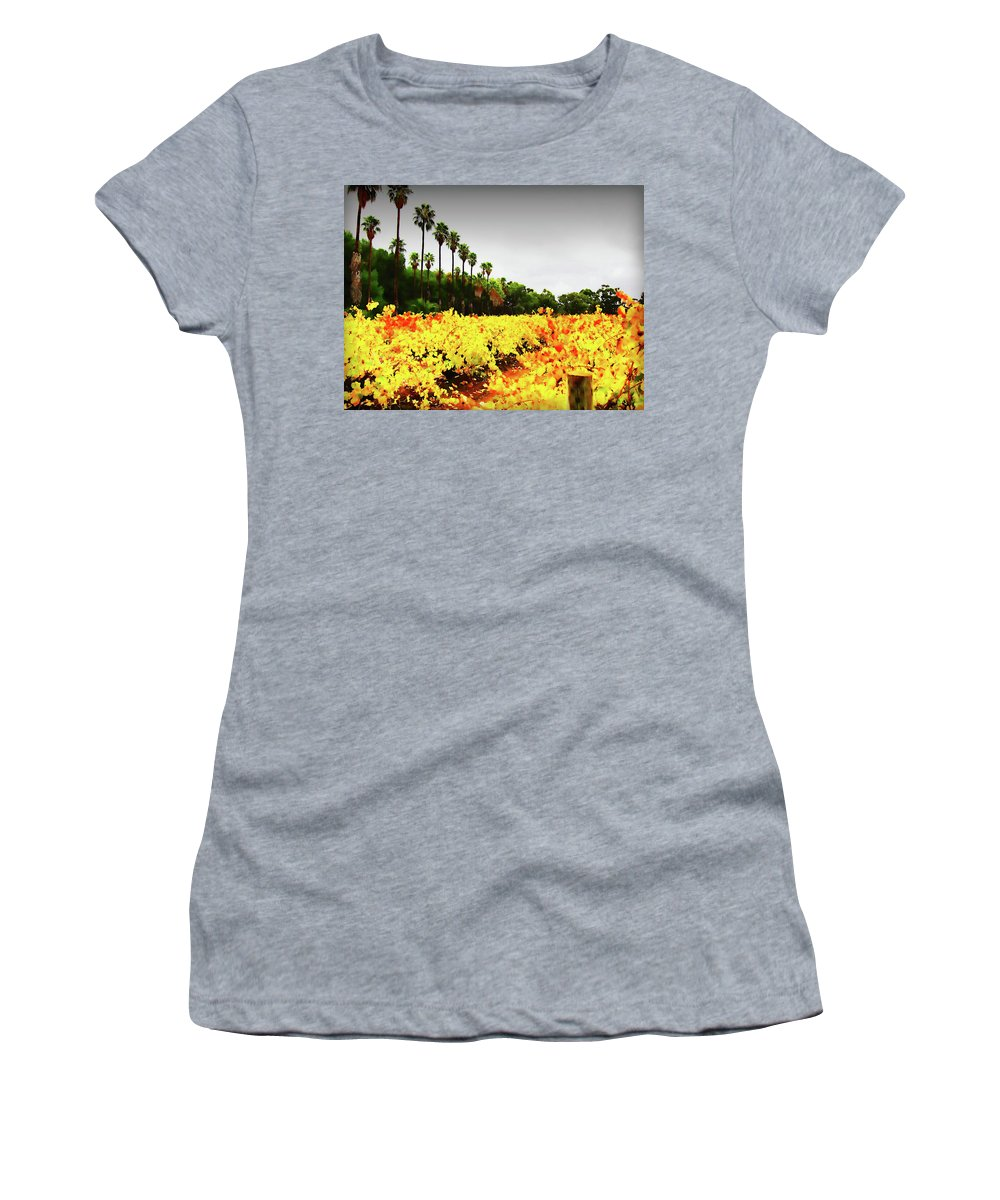 Palm Trees Women's T-Shirt featuring the photograph Autumn Contrasts by Douglas Barnard