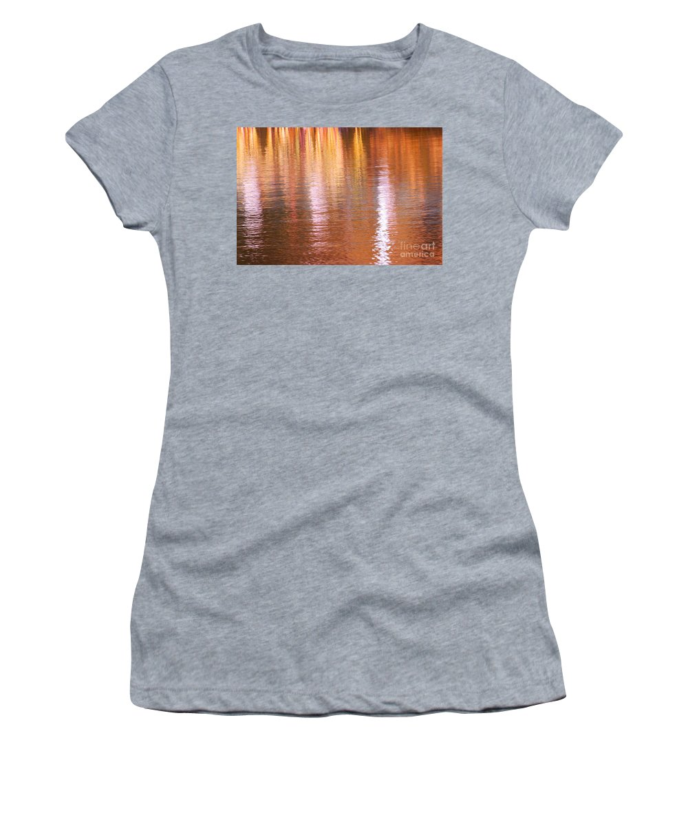 Water Women's T-Shirt (Athletic Fit) featuring the photograph Autumn Lines by Aimelle