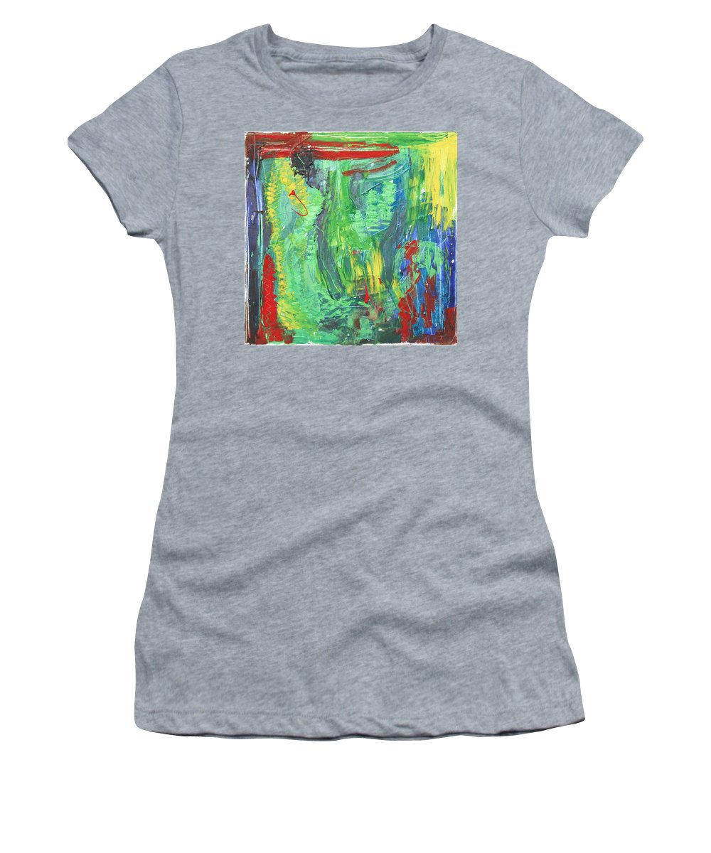 B Beautifull Women's T-Shirt featuring the painting B-beautifull by Sitara Bruns