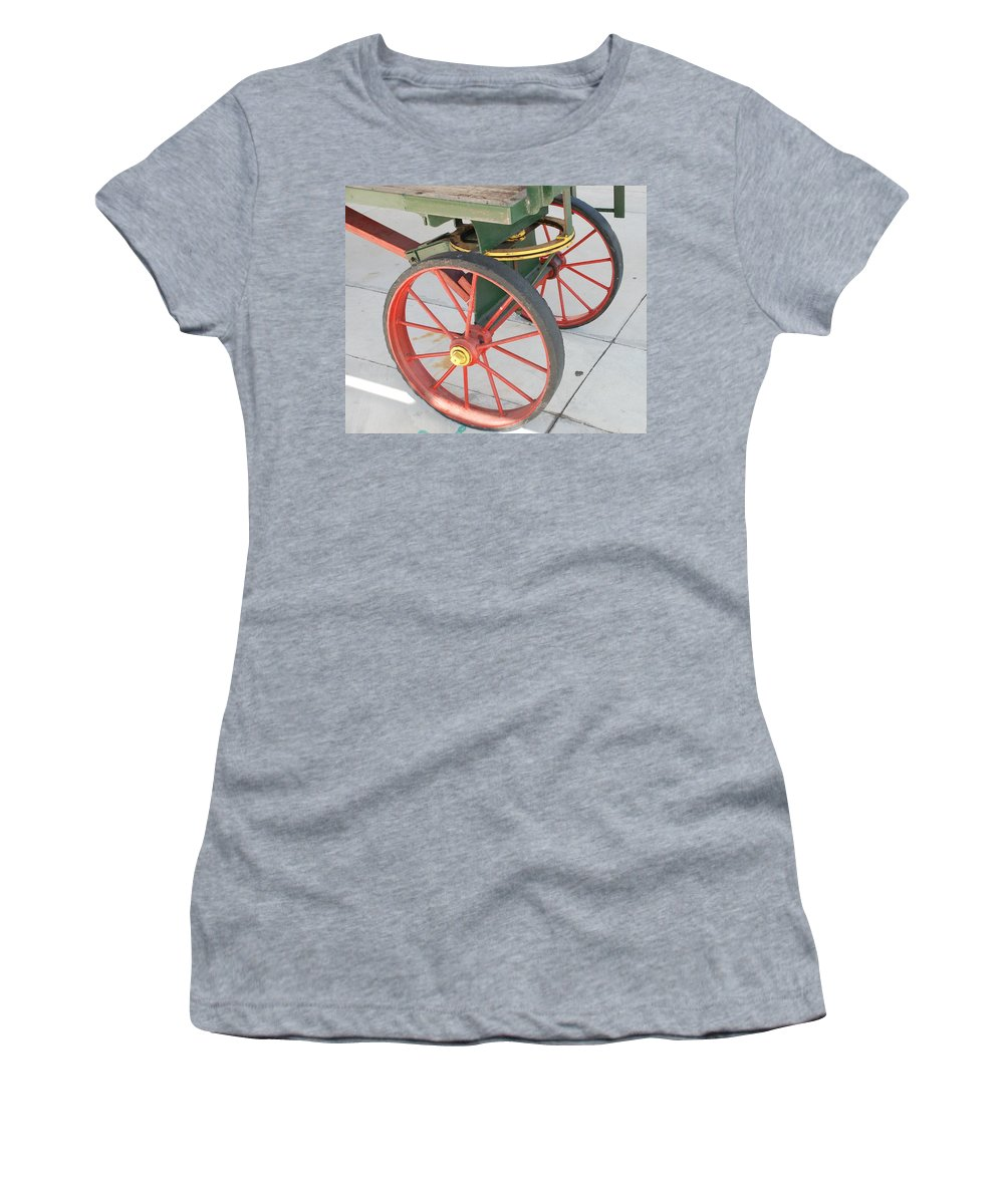 Baggage Cart Women's T-Shirt featuring the photograph Baggage Cart by Rob Hans