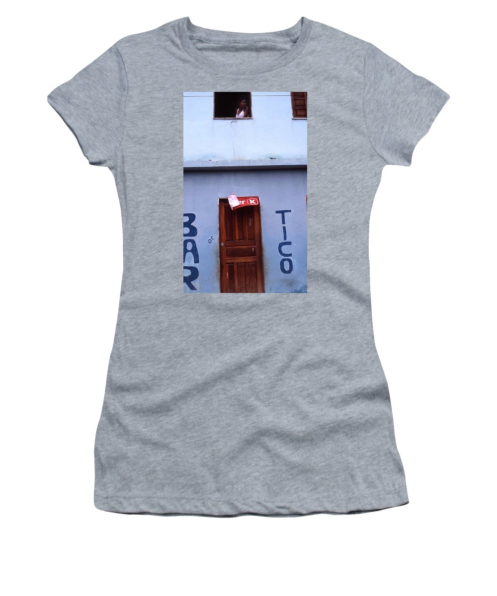 Lencois Women's T-Shirt (Athletic Fit) featuring the photograph Bar Tico by Patrick Klauss