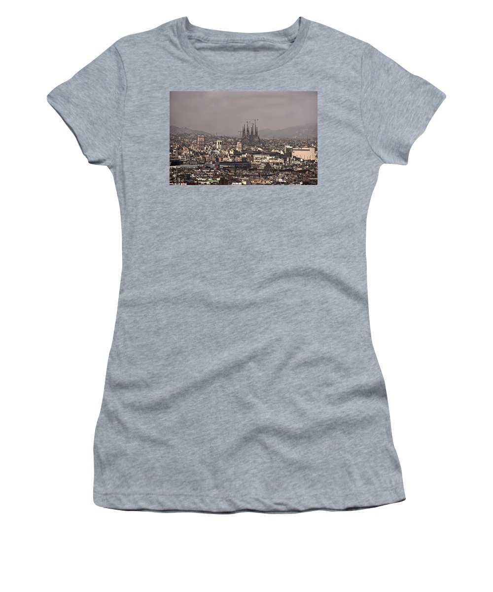 Barcelona Women's T-Shirt (Athletic Fit) featuring the photograph Barcelona by Steven Sparks