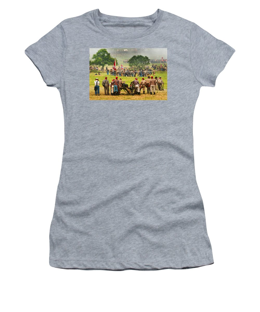 Civil War Women's T-Shirt (Athletic Fit) featuring the photograph Battle Lines Forming by Paul W Faust - Impressions of Light