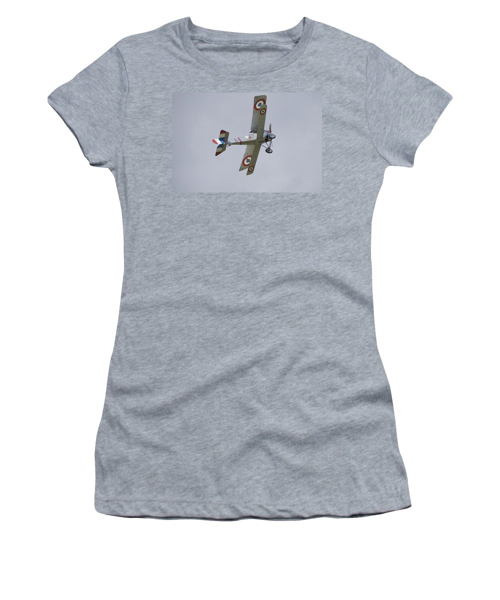 Plane Women's T-Shirt (Athletic Fit) featuring the photograph Battle Of Britain Memorial Flight by Ian Middleton