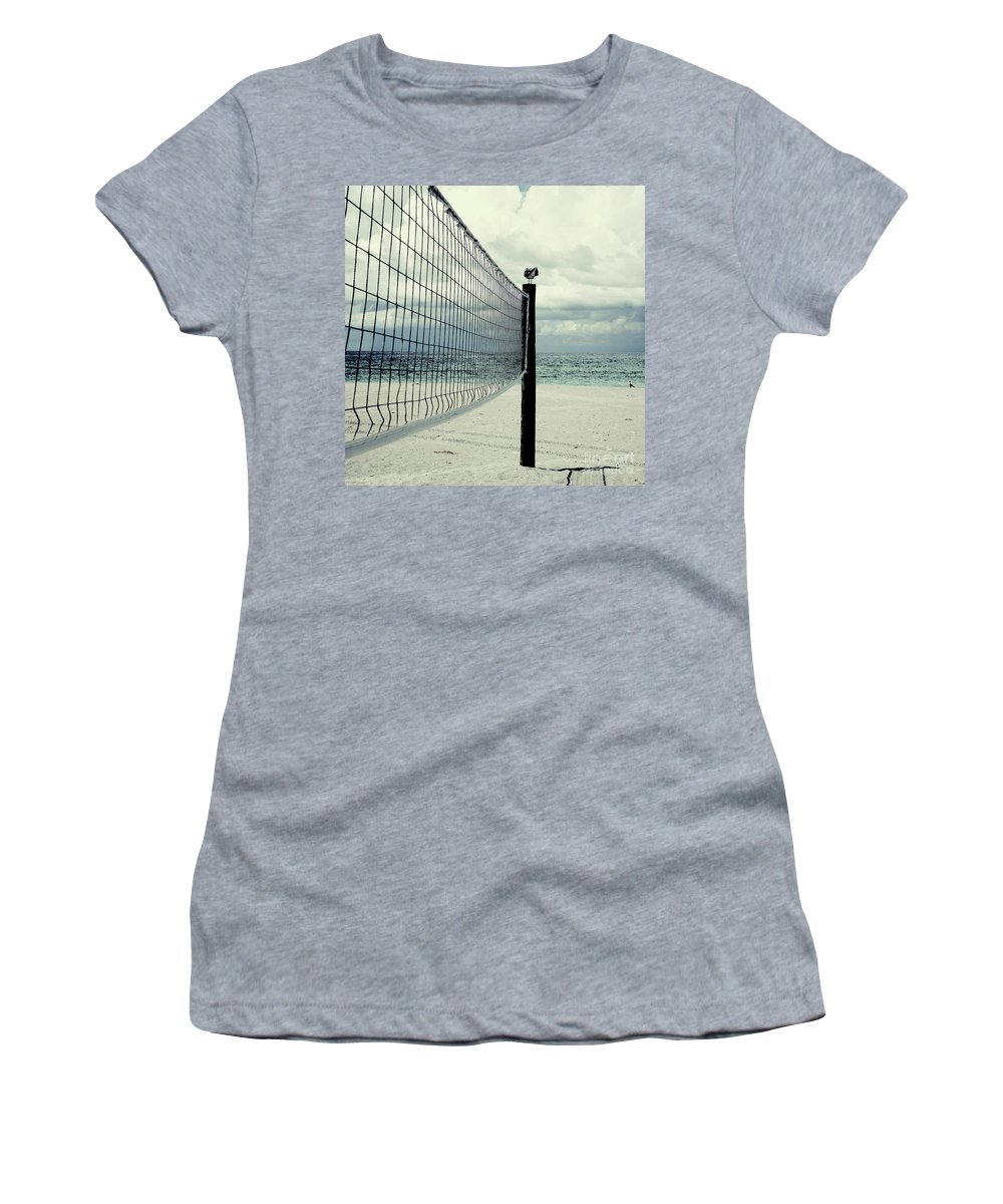 Beach Women's T-Shirt featuring the photograph Beach Bird by Zena Zero