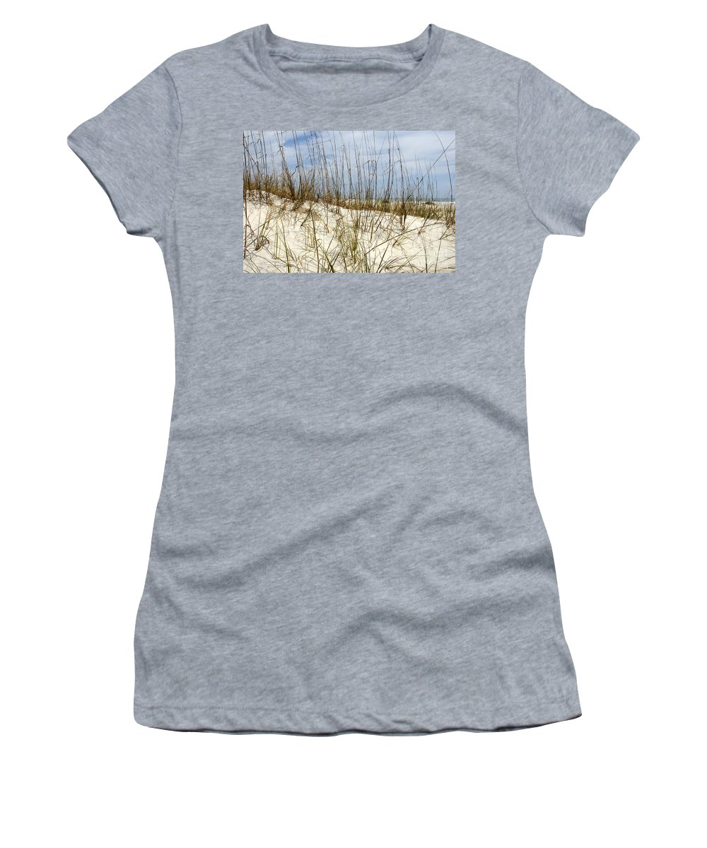 Beach Women's T-Shirt featuring the photograph Beach Dunes by David Lee Thompson