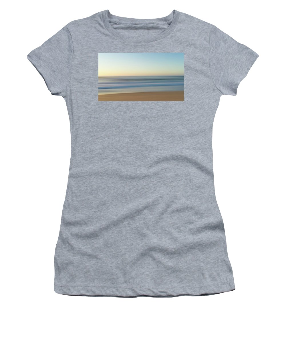 Abstract Women's T-Shirt (Athletic Fit) featuring the photograph Beach Sunrise by Mandy Creighton