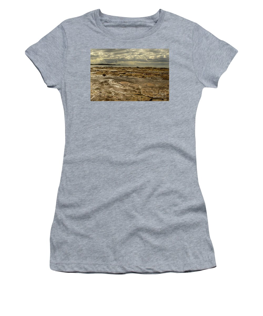 Landscape Women's T-Shirt (Athletic Fit) featuring the photograph Beach Syd02 by Werner Padarin