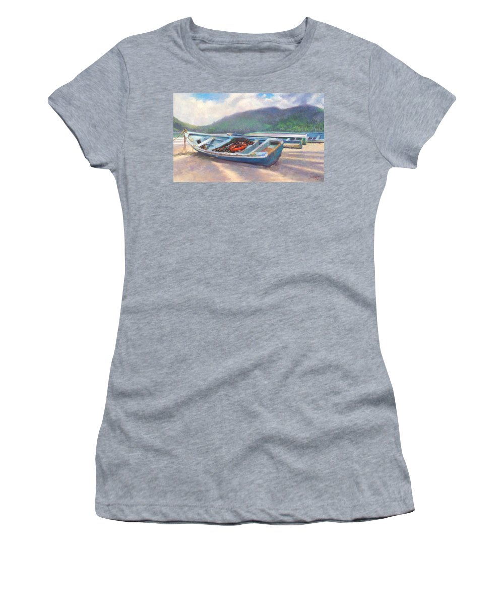 Boat Women's T-Shirt featuring the painting Beached by Colin Bootman