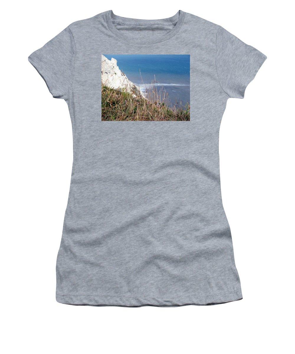 Beachy Head Women's T-Shirt featuring the photograph Beachy Head Sussex by Heather Lennox