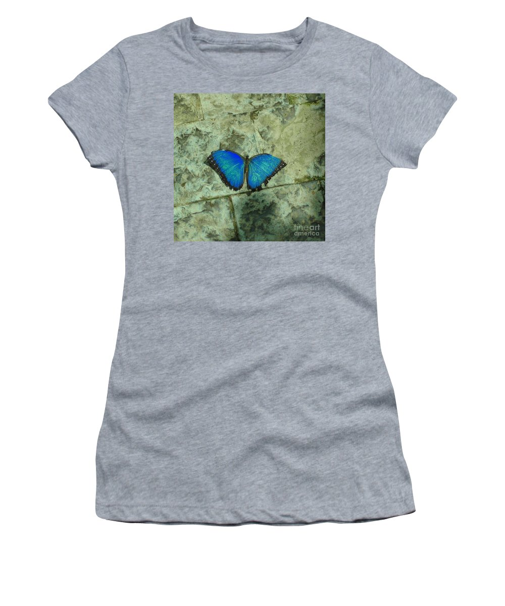 Blue Women's T-Shirt featuring the photograph Beautiful Blue by Kathleen Struckle