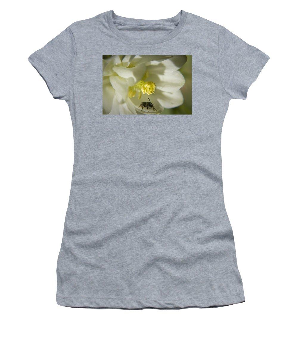 Columbine Women's T-Shirt featuring the photograph Bee Mine by Teresa Mucha