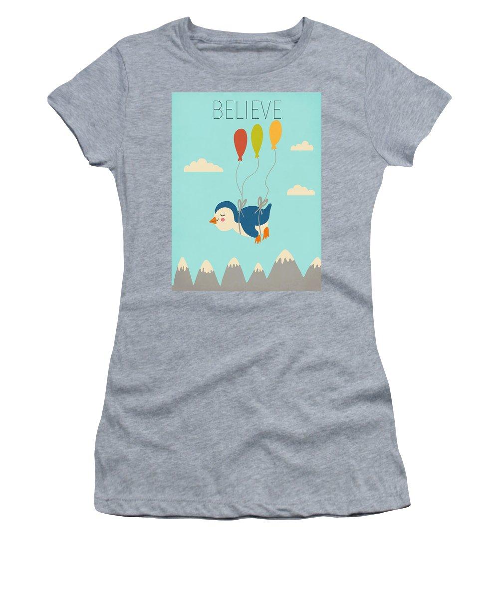 Believe Women's T-Shirt featuring the digital art Believe by Nicole Wilson
