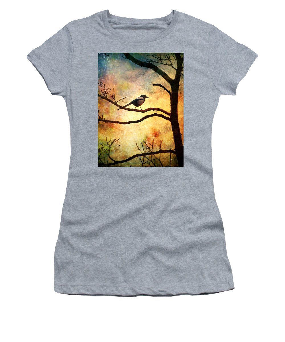 Bird Women's T-Shirt featuring the photograph Believing In The Morning by Tara Turner