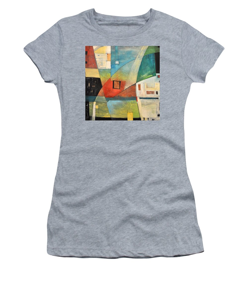 Jazz Women's T-Shirt featuring the painting Bemsha Swing by Tim Nyberg