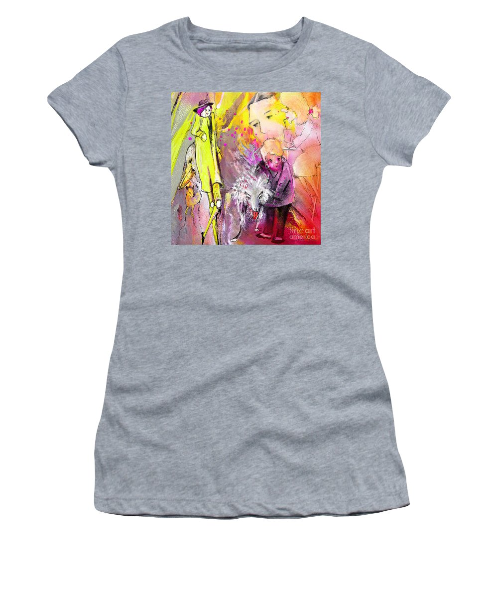 Acrylics Women's T-Shirt (Athletic Fit) featuring the painting Best In Show by Miki De Goodaboom