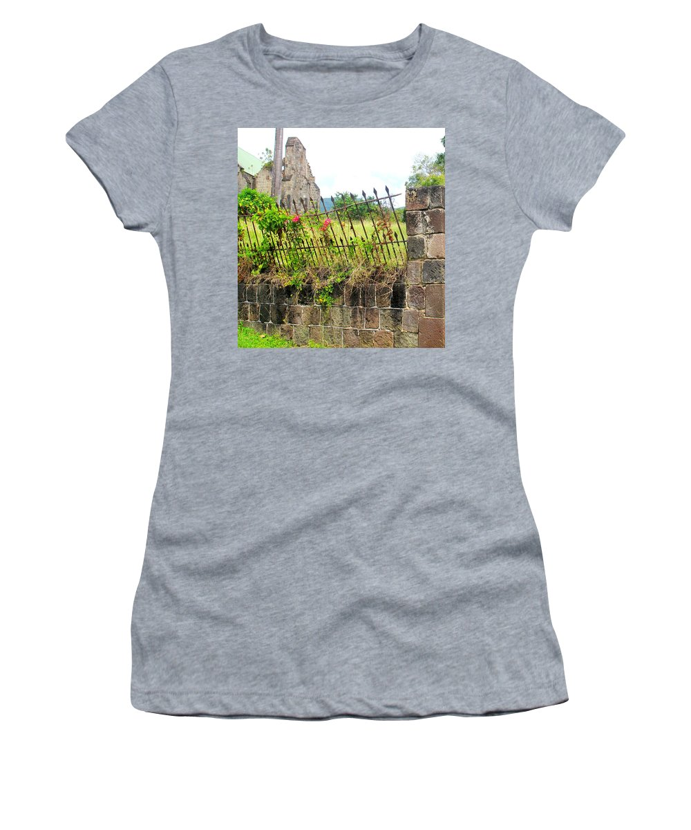Church Women's T-Shirt (Athletic Fit) featuring the photograph Better Days by Ian MacDonald