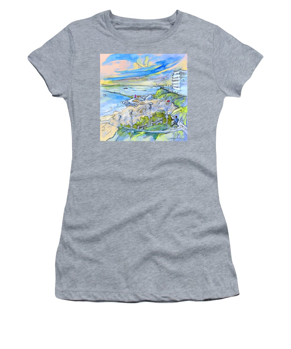 Biarritz Women's T-Shirt (Athletic Fit) featuring the painting Biarritz 26 by Miki De Goodaboom