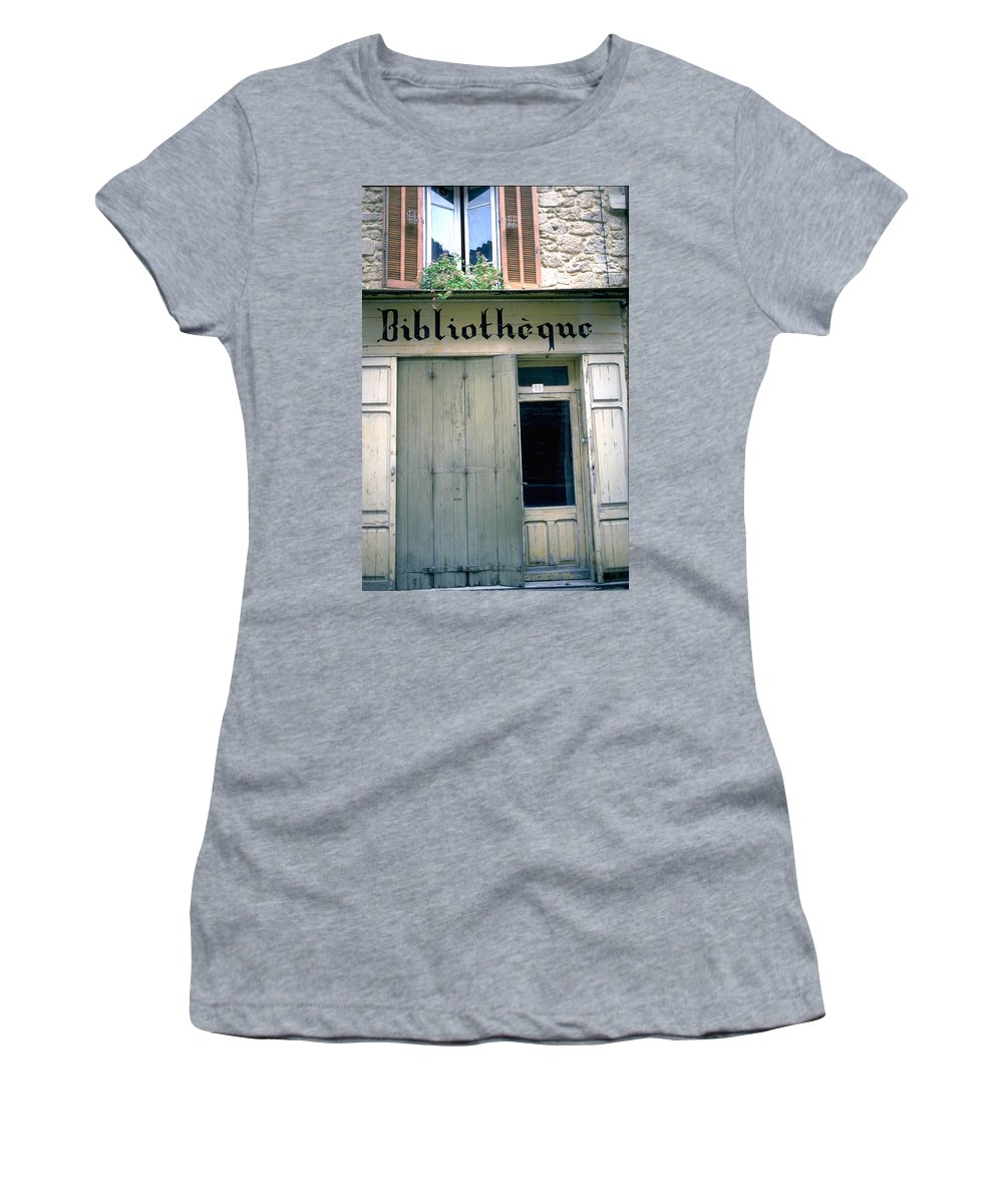 Bibliotheque Women's T-Shirt (Athletic Fit) featuring the photograph Bibliotheque by Flavia Westerwelle
